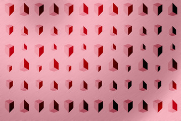 Geometric background / Abstract background of geometric on pink background.