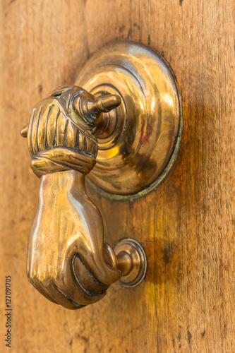 Heurtoir de porte d 39 entr e forme main stock photo and - Heurtoir de porte d entree ...