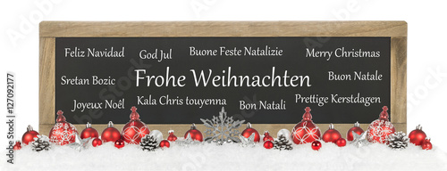 frohe weihnachten international stockfotos und. Black Bedroom Furniture Sets. Home Design Ideas