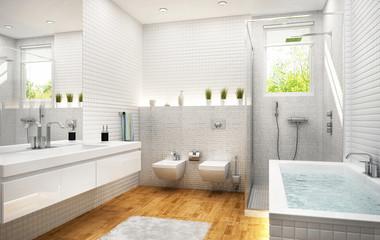 Modern white bathroom 2
