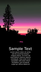 Colorful background for flyer or website design. Neon lights. Violet, pink, grey and black tones.