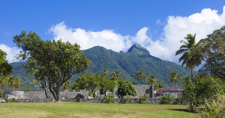 sugarcane plantation ruin in St Kitts