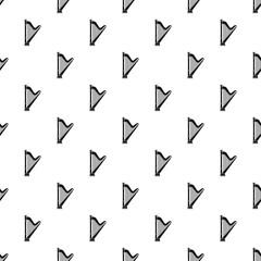 Harp pattern. Simple illustration of harp vector pattern for web