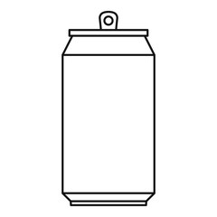 Can icon. Outline illustration of can vector icon for web