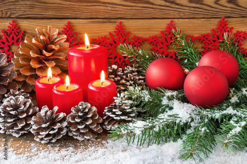 Advent Dekoration Mit Kerzen Photo Libre De Droits Sur