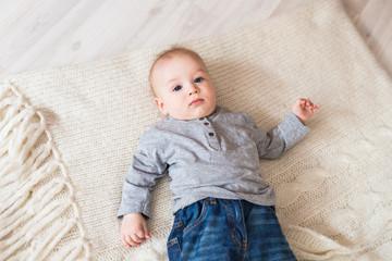 Baby Boy lying on a back