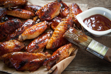 chicken wing with sauce
