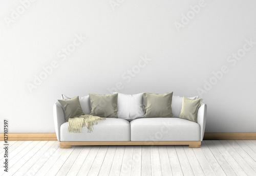 Couch im raum vor einer wand stockfotos und lizenzfreie for Sofa im raum