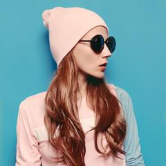 Amazing girl Autumn -spring fashion outfit. Vanilla style hipste