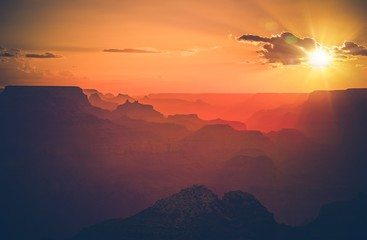 Wall Mural - Arizona Grand Canyon Sunset