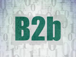 Finance concept: B2b on Digital Data Paper background