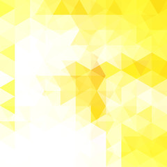 Background of geometric shapes. Abstract triangle geometrical background. Mosaic pattern. Vector EPS 10. Vector illustration. White, yellow colors
