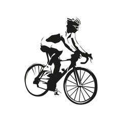 Cyclist vector illustration. Road cycling
