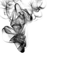 smoke abstract shape isolated on a white background