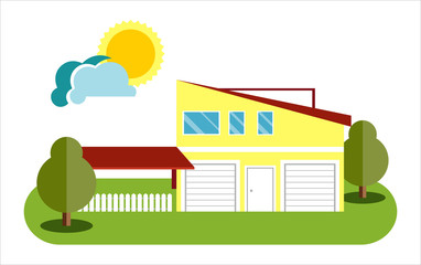House flat icon. flat style vector illustration