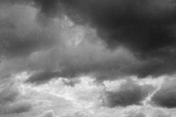 Clouds over horizon, cloudscape, storm.