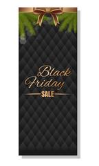 Big Christmas Sale. Black Friday background. Gold lettering on a black background. Vector illustration
