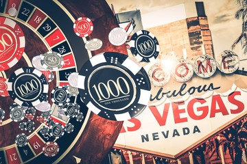 Vegas Casino Roulette Concept