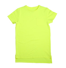 Blank color t-shirt on white background