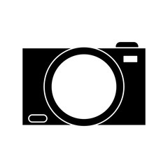Camera icon. Device gadget technology and photographyl theme. Isolated design. Vector illustration