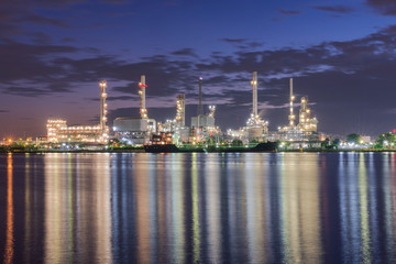 Refinery oil industry plant at morning