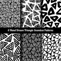 Hand Drawn Seamless Triangle Pattern
