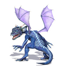 Baby Dragon with Purple Wings