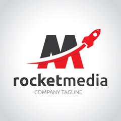 Rocket Media Logo template.
