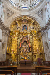SEGOVIA, SPAIN, APRIL - 14, 2016: The main altar of church Capilla del Santisimo Sacramento