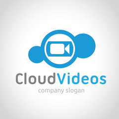 Cloud Video logo template.