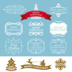 クリスマス ラベルデザインセット