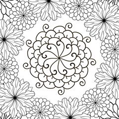Flower Black And White Coloring Page