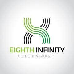 Infinity logo , Eighth logo template.