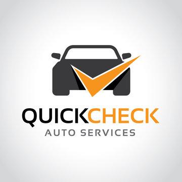 Car logo, Quick check logo template.