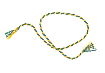 Colored rope isolated on white background