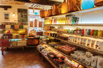 Ancient perfume laboratory in the village Gourdon, France