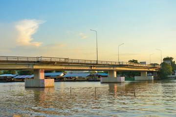 Bridge river in thailand. Wall mural