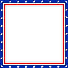 American flag Patriotic border with copy space for your text.