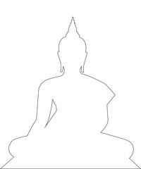 Buddha Path on the white background