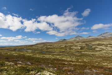 Mountains in Rondane national park norway