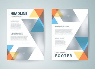 Abstract flyer brochure design template cover colored stripes