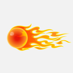 Abstract fireball on white background