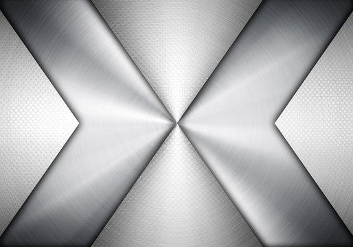 silver metal with arrow design background
