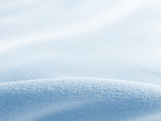 Winter natural background of pure fluffy snow