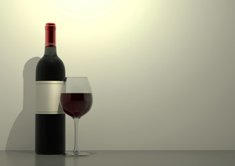 Wine and glass of wine