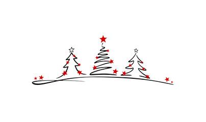 Weihnachtenbaum mit Sternen