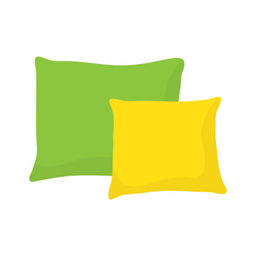 colored pillow, cushion vector illustration