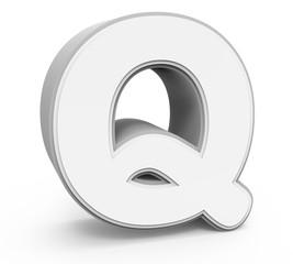 white letter Q
