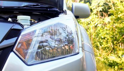 Headlights of new car