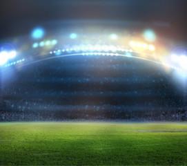 Green soccer field,